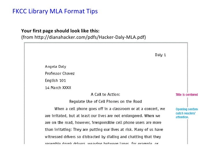 Guidelines research paper mla