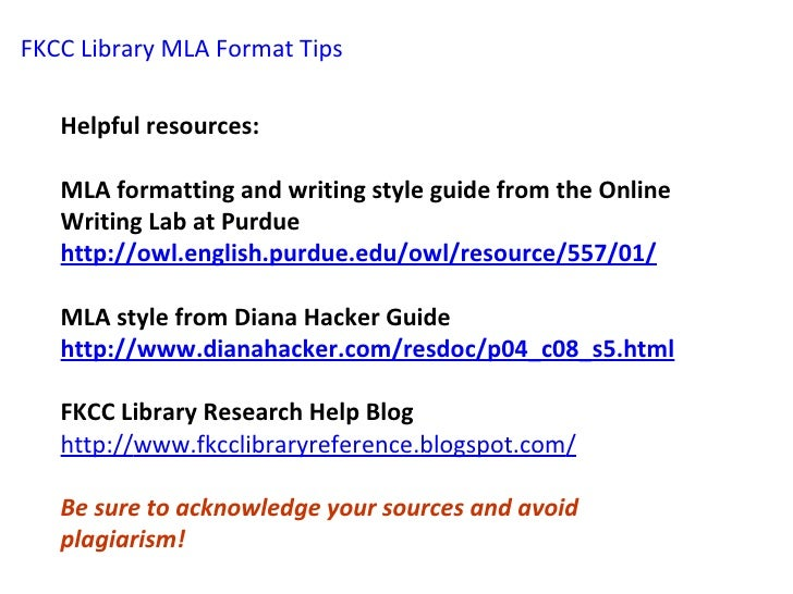 guide to writing mla research paper
