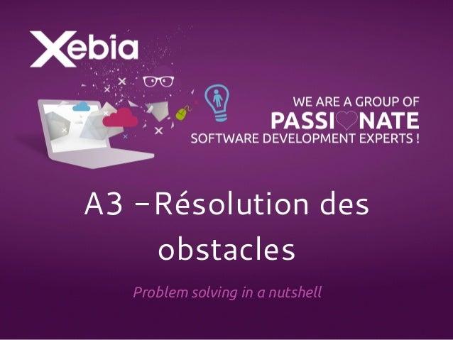 A3 -Résolution des  obstacles  Problem solving in a nutshell