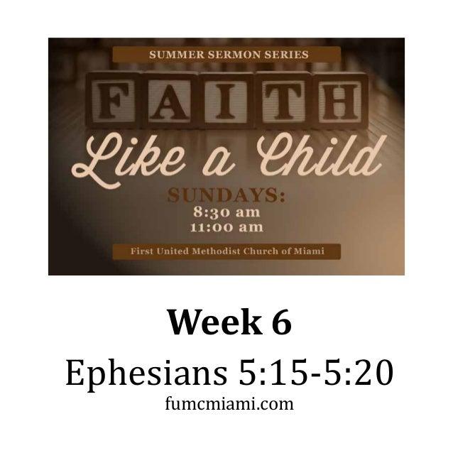 Sermon Series: Lessons On Ephesians - SermonCentral.com