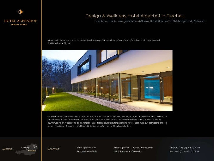 Design & Wellness Hotel Alpenhof in Flachau