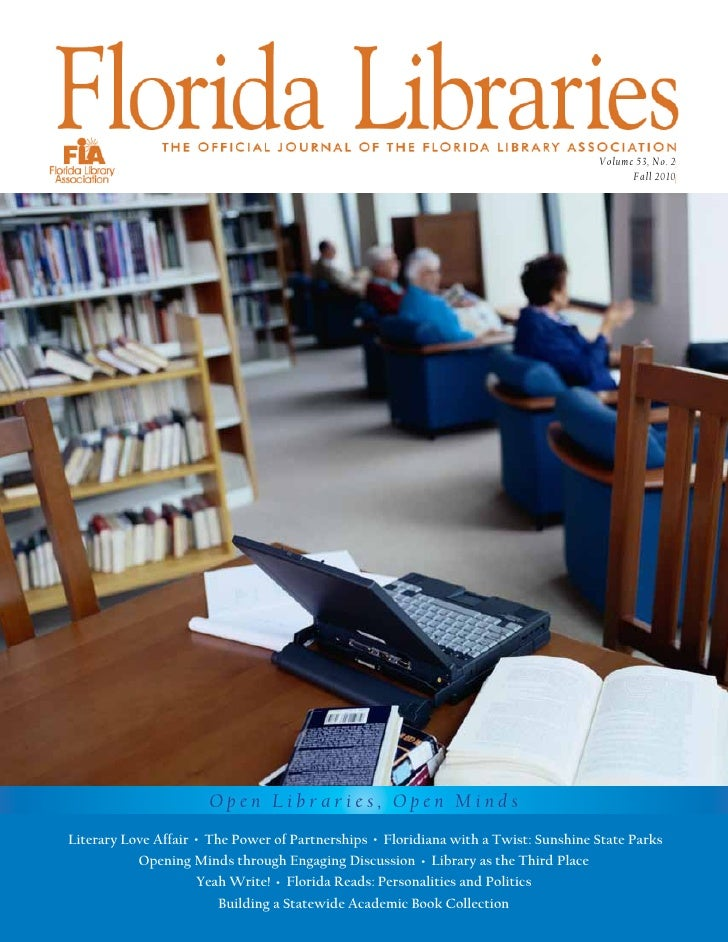 "Fall 2010 Issue of ""Florida Libraries"""