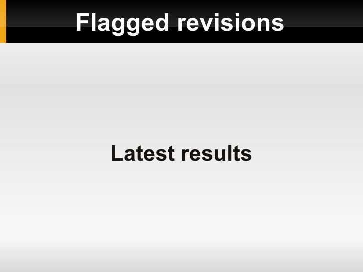 Flagged revisions Latest results