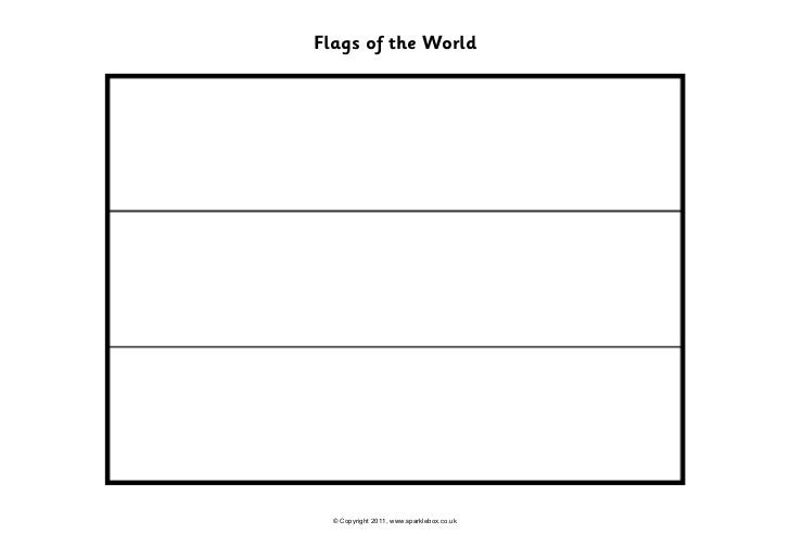 Flags of the World  © Copyright 2011, www.sparklebox.co.uk