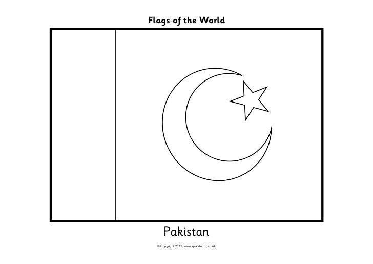 Pakistan Flag Black And White flags coloring