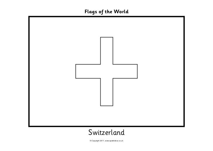 Olympic Coloring Pages Flags Switzerland Coloring Pages