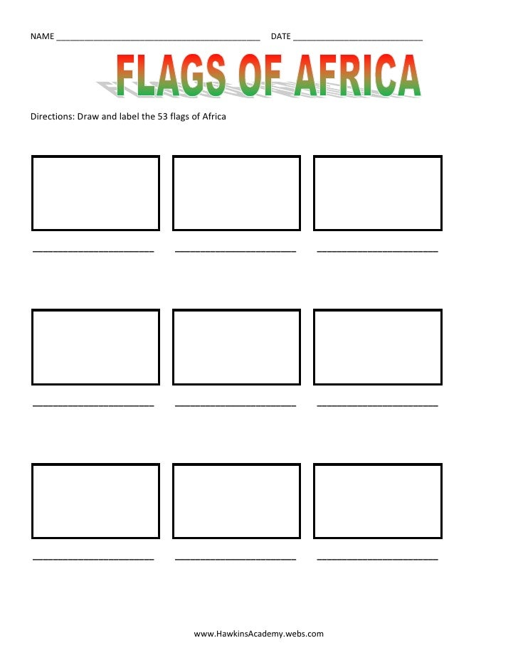 Flags of Africa - draw