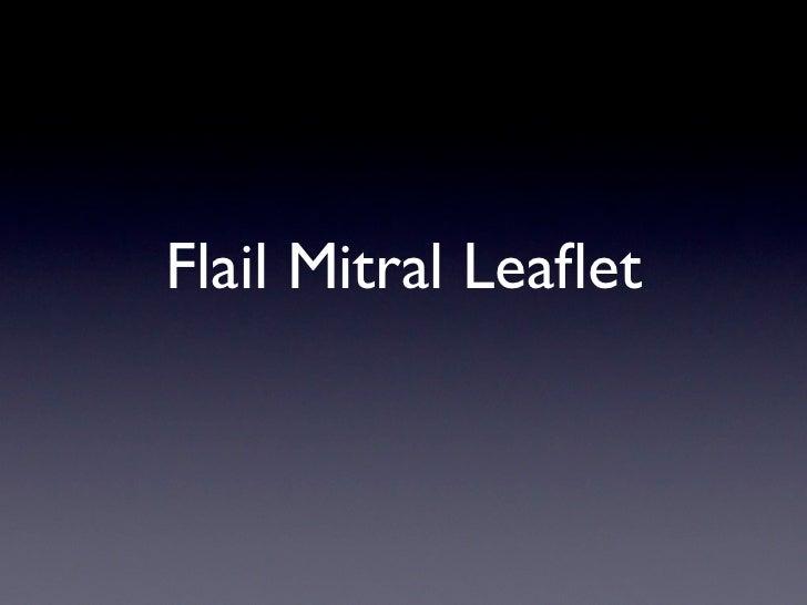 Flail Mitral Leaflet