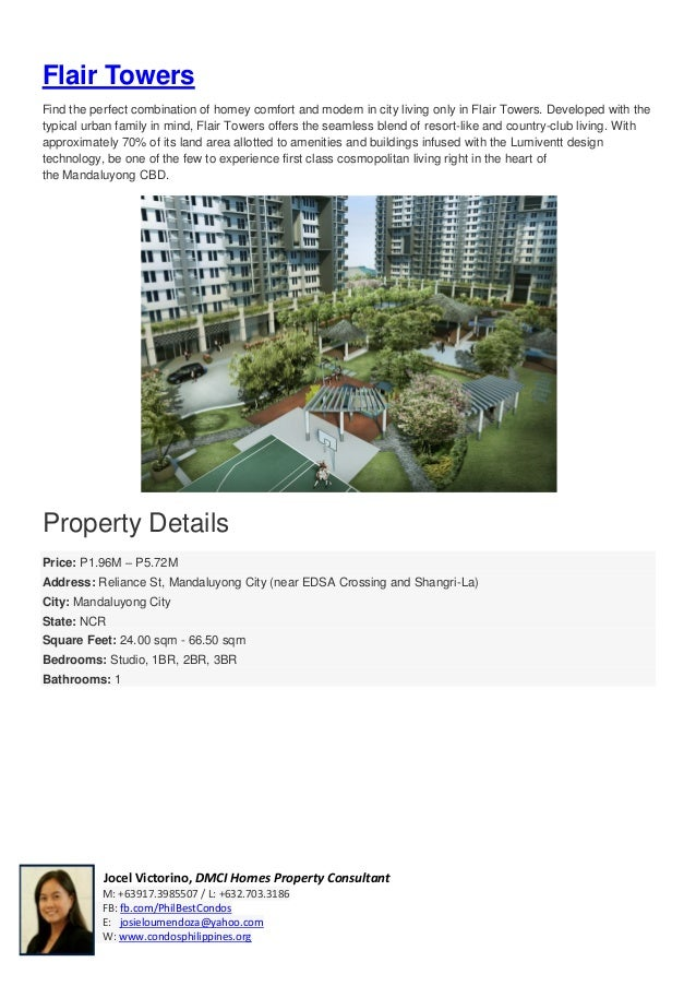 Pre Sell / Condo For Sale near Ortigas - Flair Towers Residences