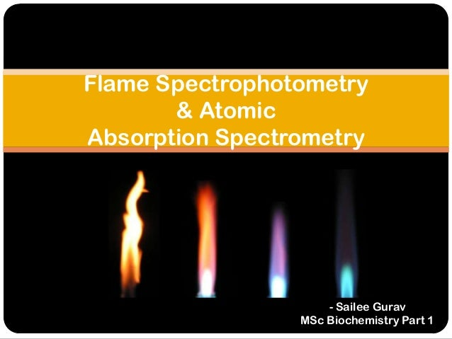 Flame and atomic abosrption spectrophometry