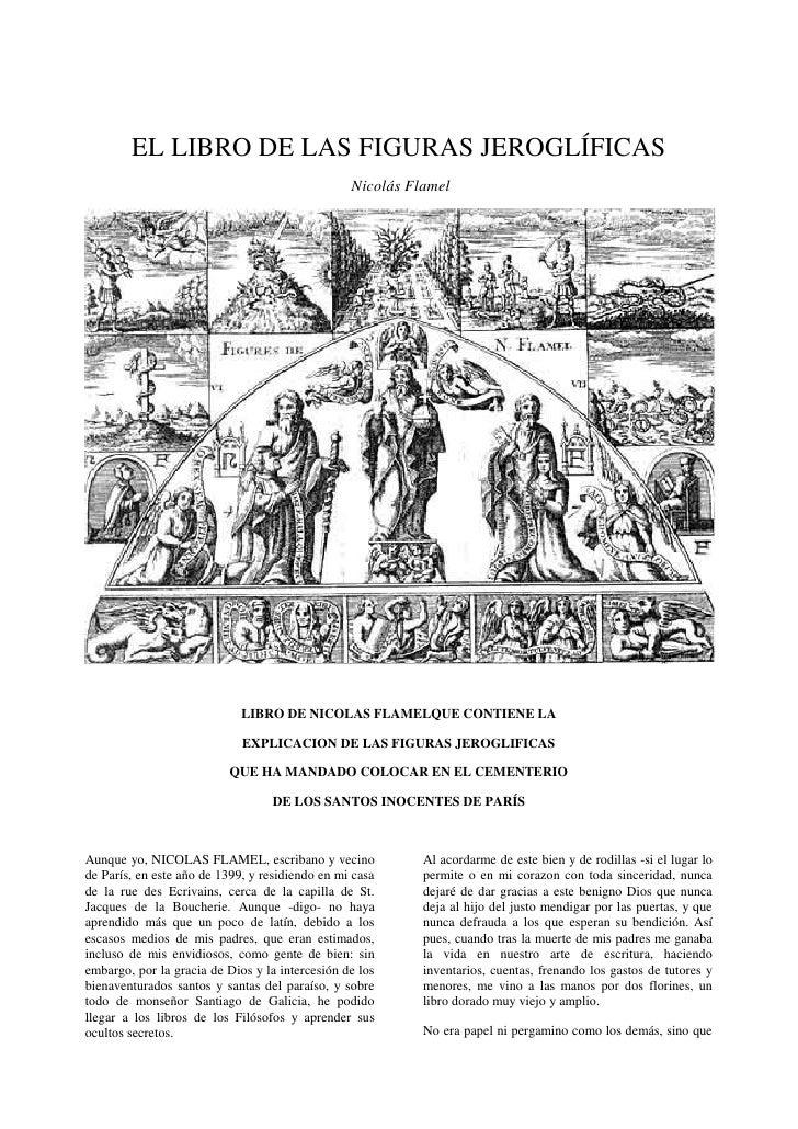 EL LIBRO DE LAS FIGURAS JEROGLÍFICAS                                                  Nicolás Flamel                      ...