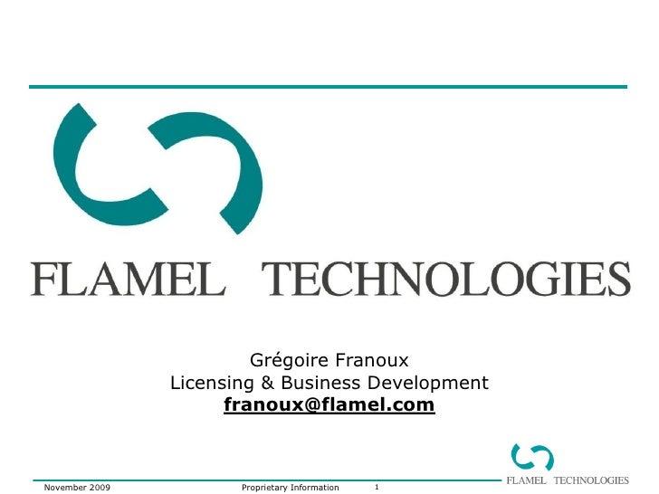 Flamel Short Corporate 2009