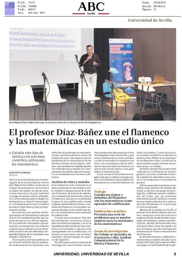Flamenco y Matemáticas . Diaz-Báñez