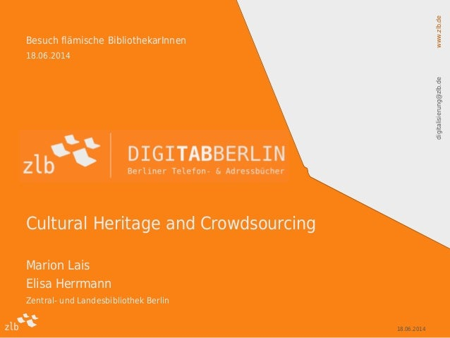 Cultural Heritage and Crowdsourcing (ZLB)