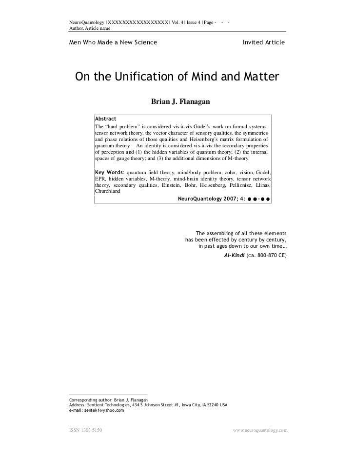 NeuroQuantology | XXXXXXXXXXXXXXXXX | Vol. 4 | Issue 4 | Page -             -      -Author. Article nameMen Who Made a New...