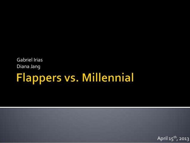 Flappers vs. millennial