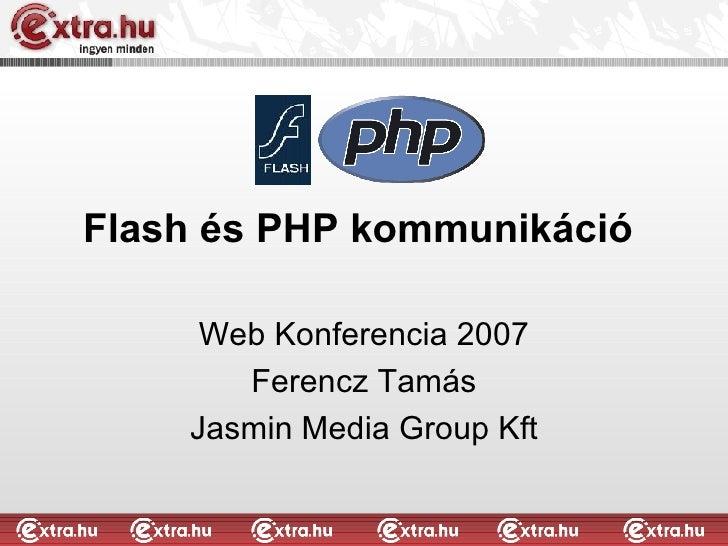 Flash és PHP Kommunikáció