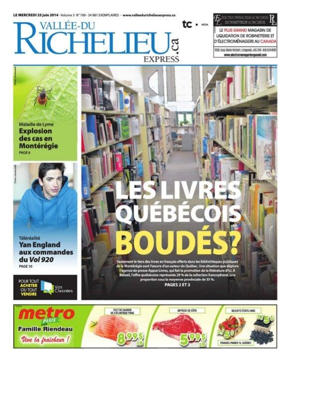Palmarès 2014 des bibliothèques publiques du Québec - Livres québécois boudés ?