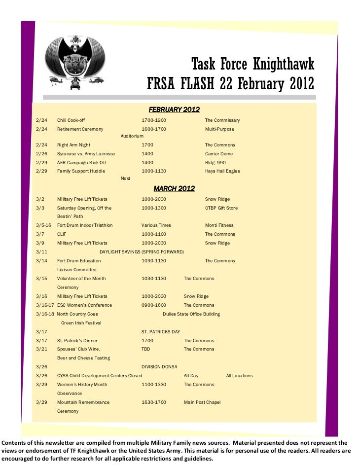 17 February 2011                                                                      Task Force Knighthawk               ...
