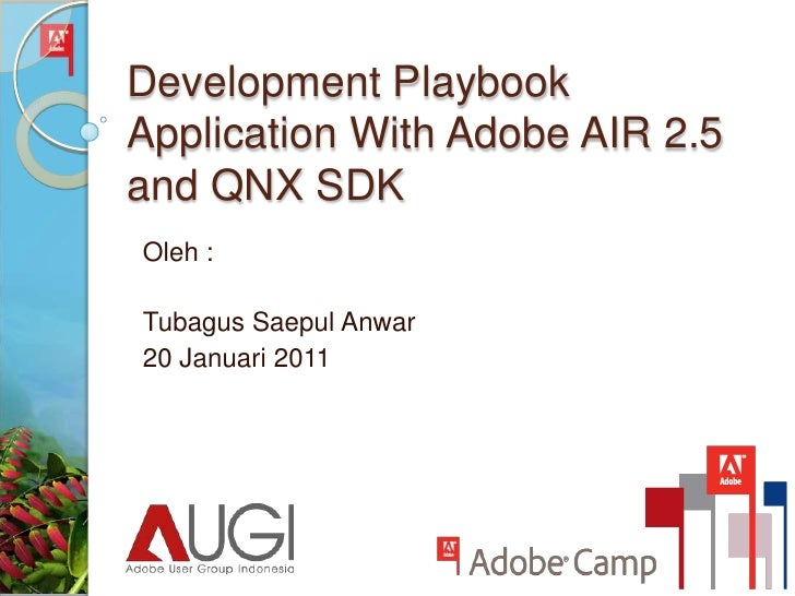 Development Playbook Application With Adobe AIR 2.5 and QNX SDK