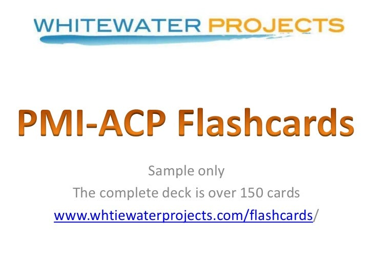 PMI-ACP Exam Study Flashcards sample