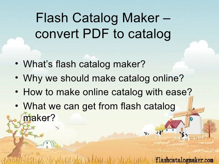 Flash catalog maker