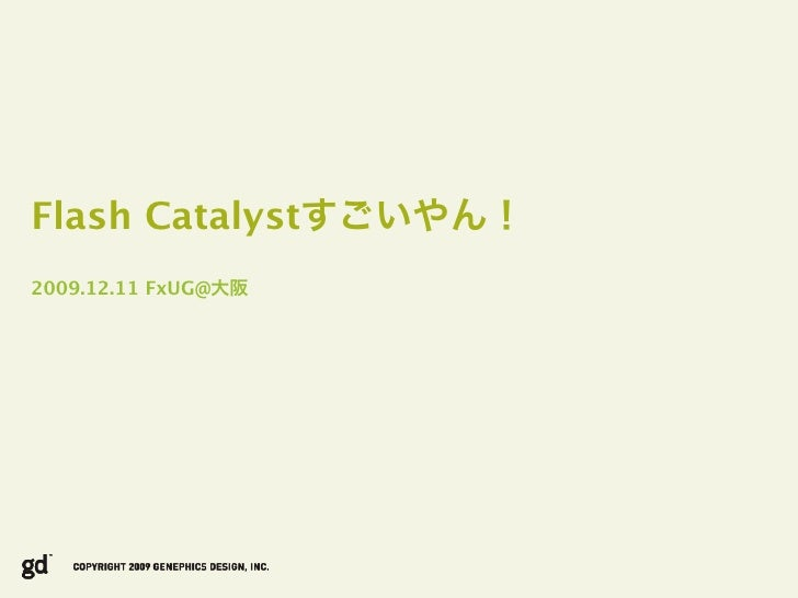 Flash Catalyst 2009.12.11 FxUG@