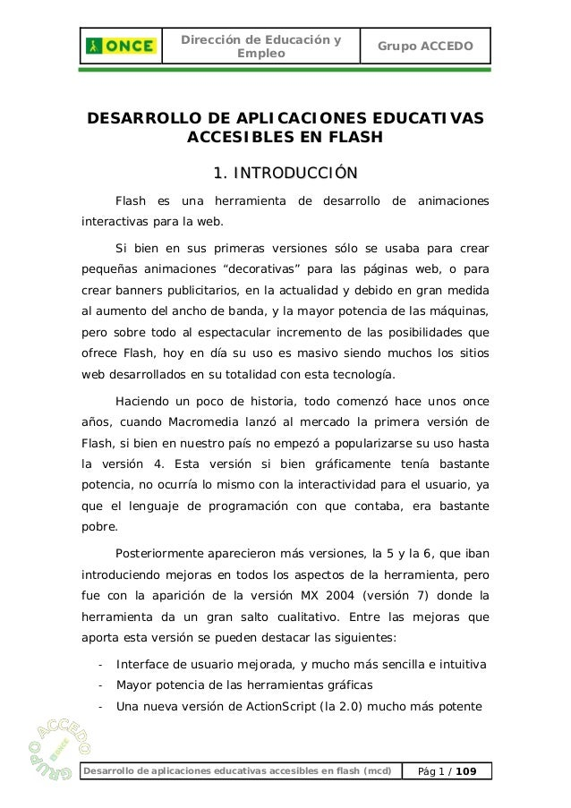 Flash educacion