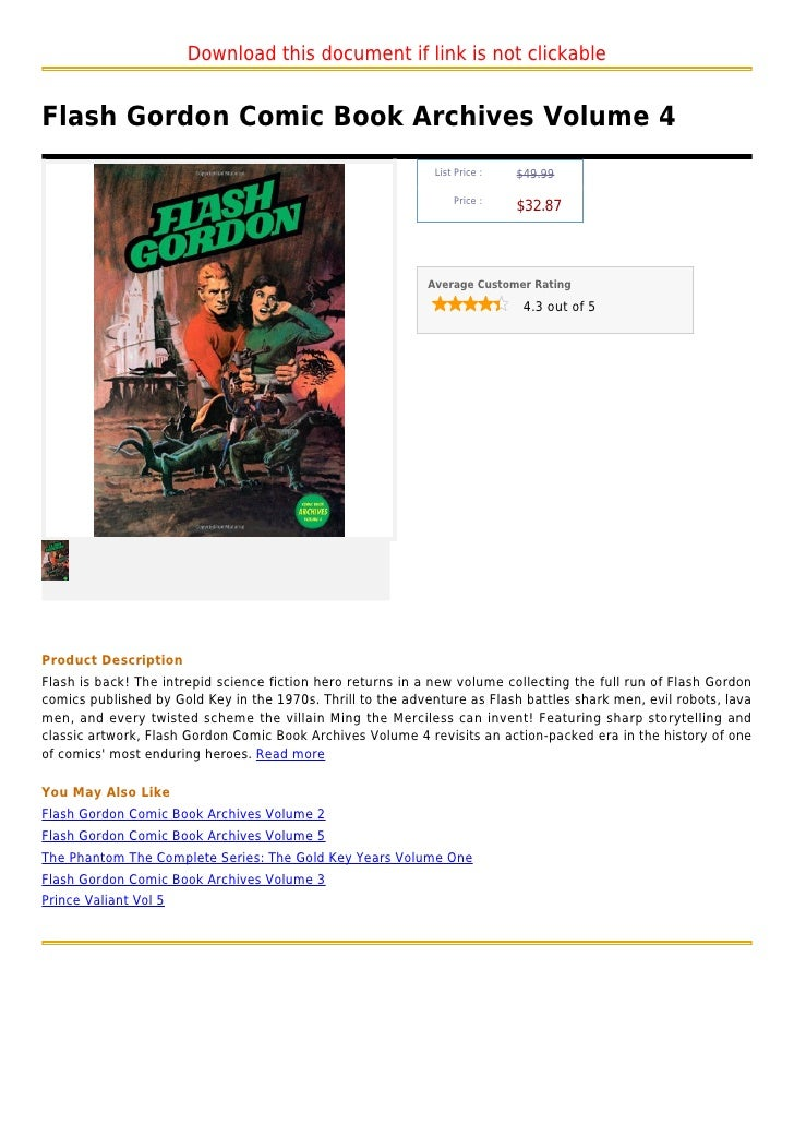 Download this document if link is not clickableFlash Gordon Comic Book Archives Volume 4                                  ...