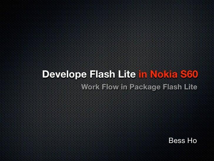 Develop Flash Lite App in Nokia S60