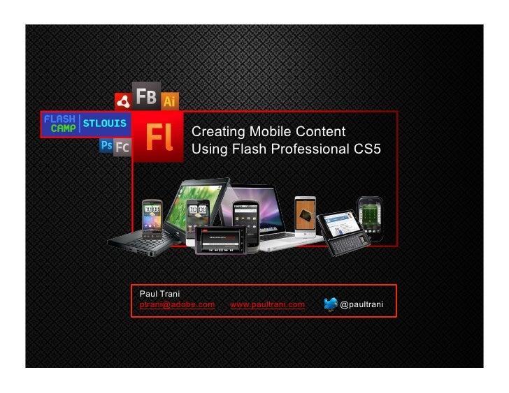 Creating Mobile Content                                                          Using Flash Professional CS5             ...