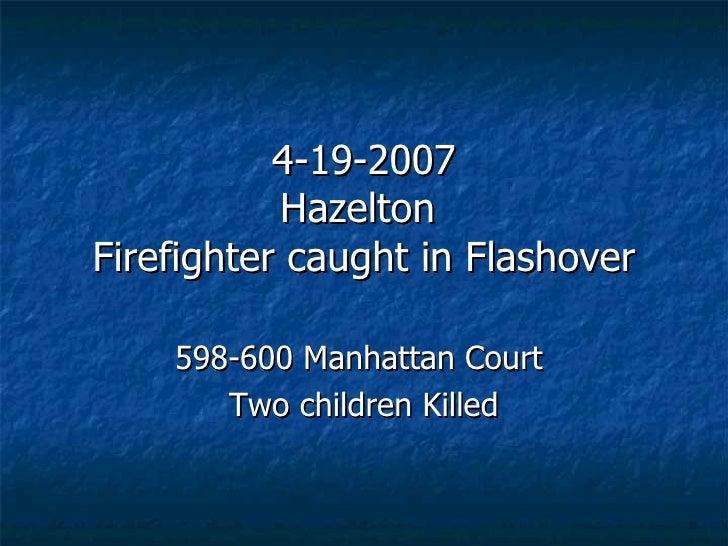 FLASHOVER -Hazel Township