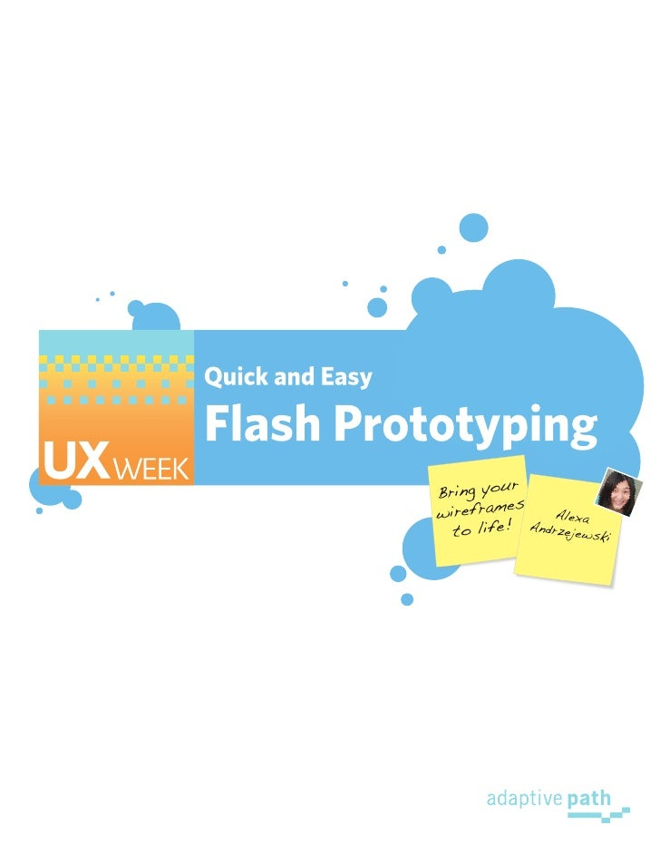 Flash Prototyping Workbook - Part 1 and 2