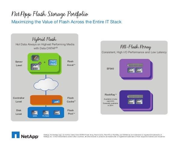 NetApp Flash Storage PortfolioMaximizing the Value of Flash Across the Entire IT Stack              Hybrid Flash  Hot Data...