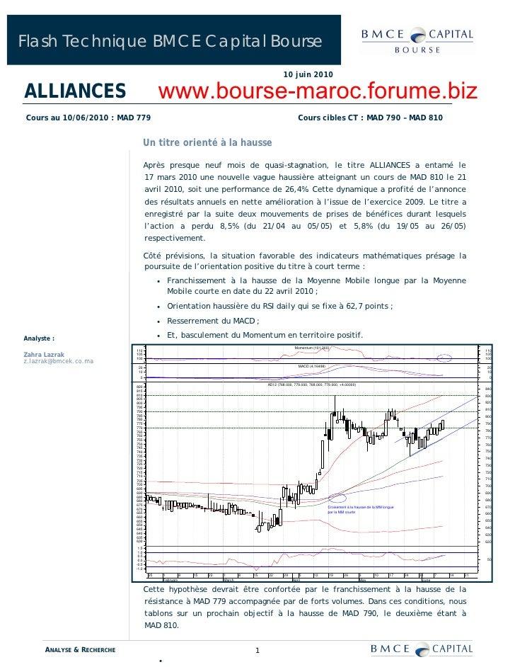 Flash Technique BMCE Capital Bourse                                                                                       ...