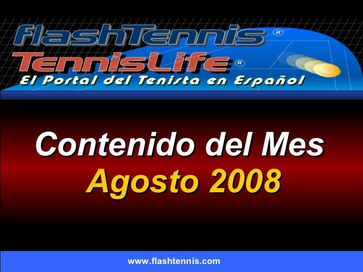 Flashtennis.com Agosto 2008