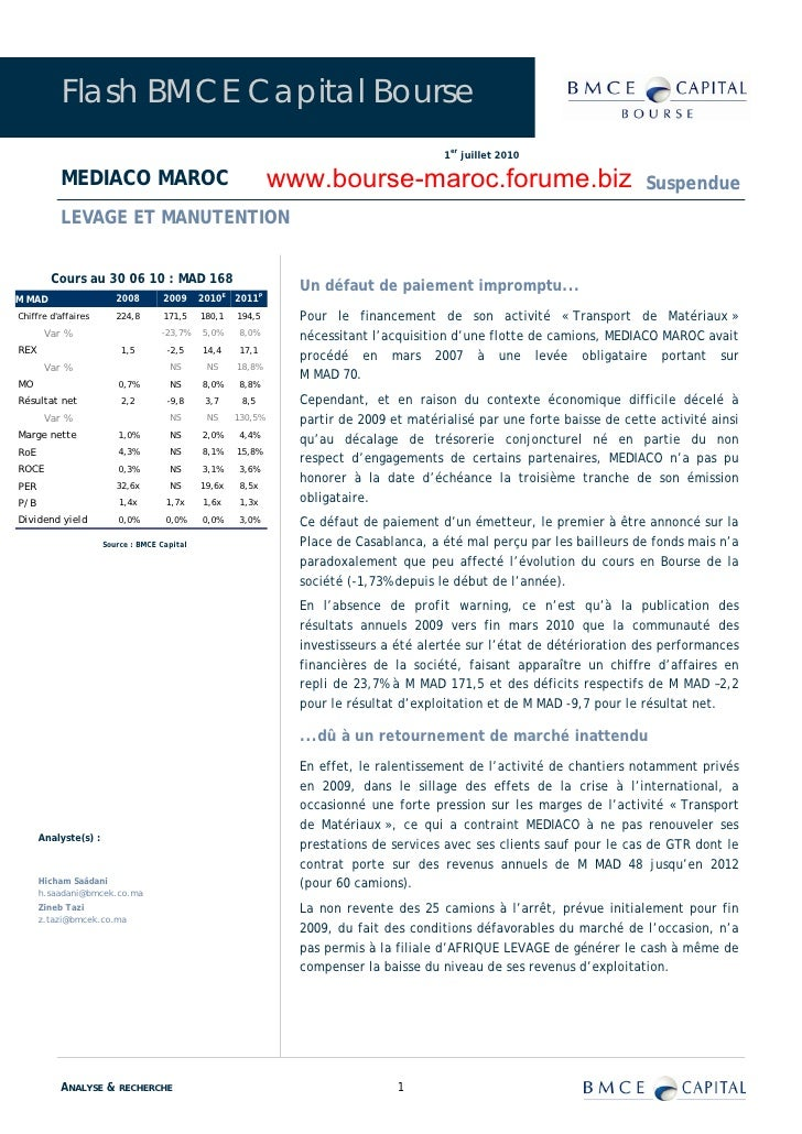 Flash BMCE Capital Bourse                                                                                          1er jui...