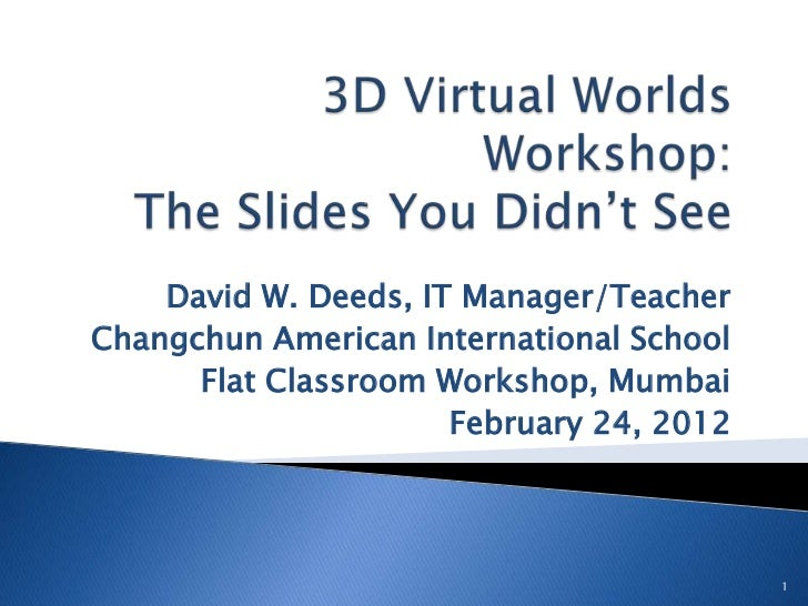 Flat Classroom Workshop Mumbai: The Slides You Didn't See