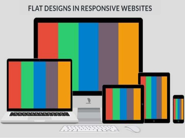 Flat designs in responsive websites