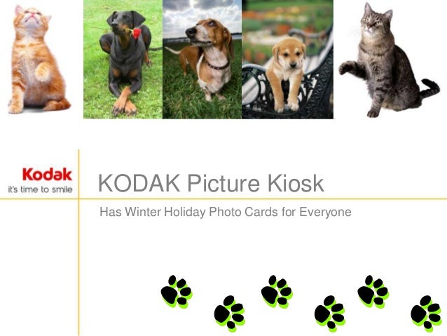 KODAK Picture KioskHas Winter Holiday Photo Cards for Everyone