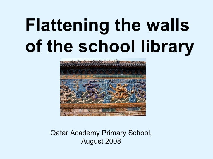 Flattening the walls  of the school library Qatar Academy Primary School, August 2008