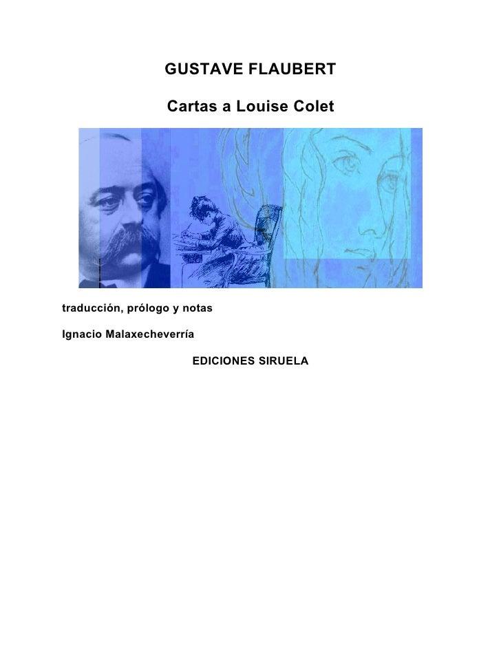 Flaubert gustave   cartas a louise colet