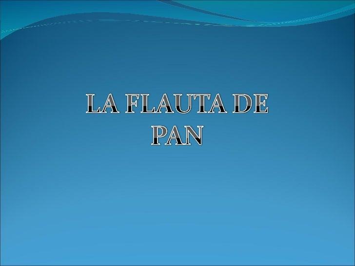 Flauta de pan (música)