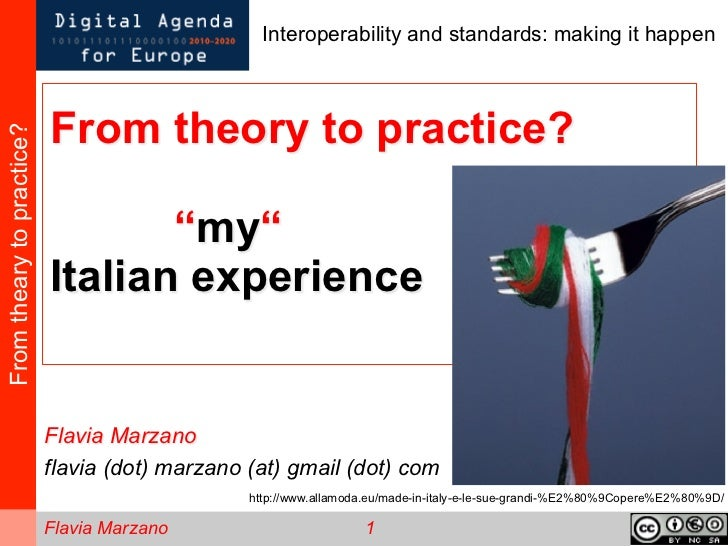 """From therory to practice? """"My"""" Italian experience"""