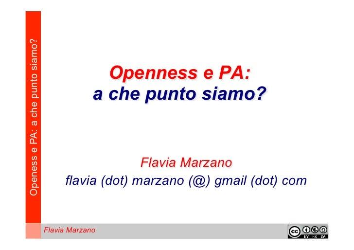 Flavia Marzano: openness e pubblica amministrazione a che punto siamo