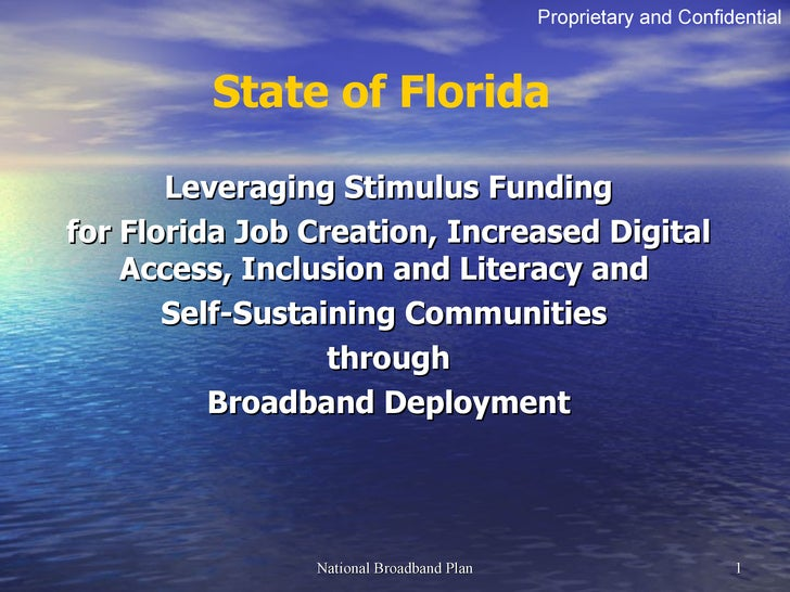 Leveraging Stimulus Funding for Florida Job Creation, Increased Digital Access, Inclusion and Literacy and  Self-Sustainin...