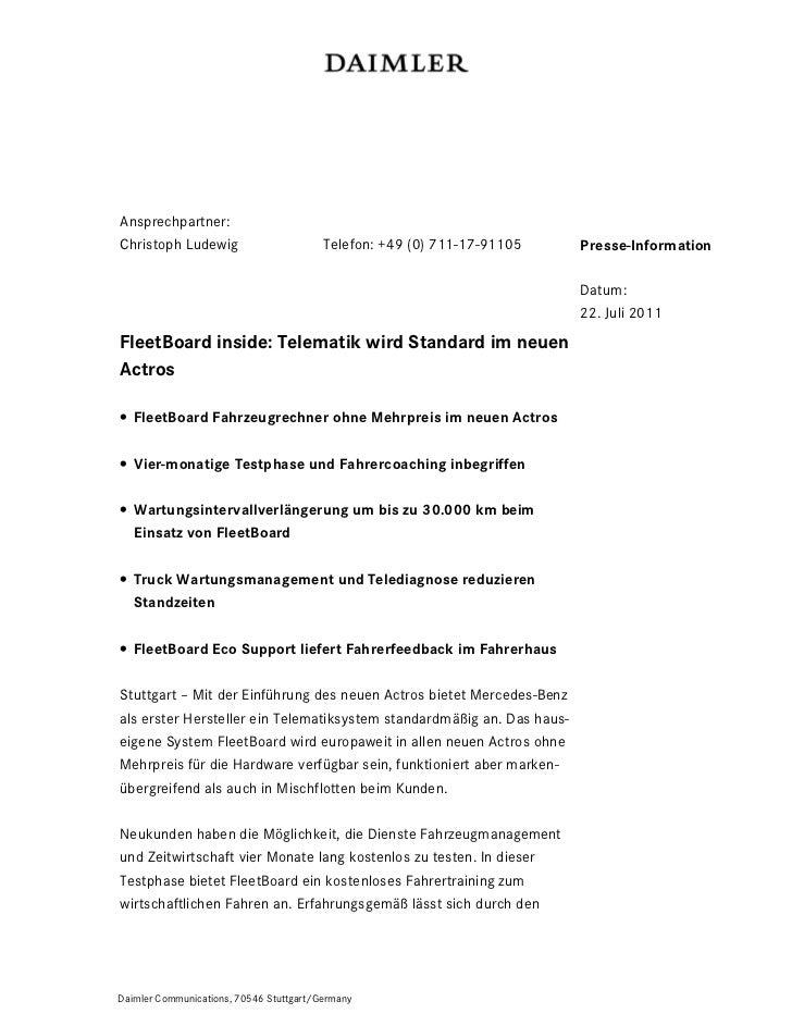 Ansprechpartner:Christoph Ludewig                        Telefon: +49 (0) 711-17-91105   Presse-Information               ...