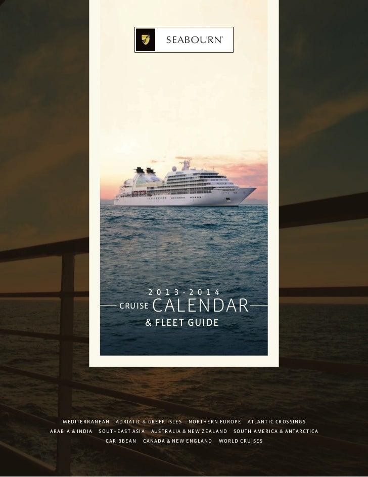 Calendario Seabourn 2013/2014