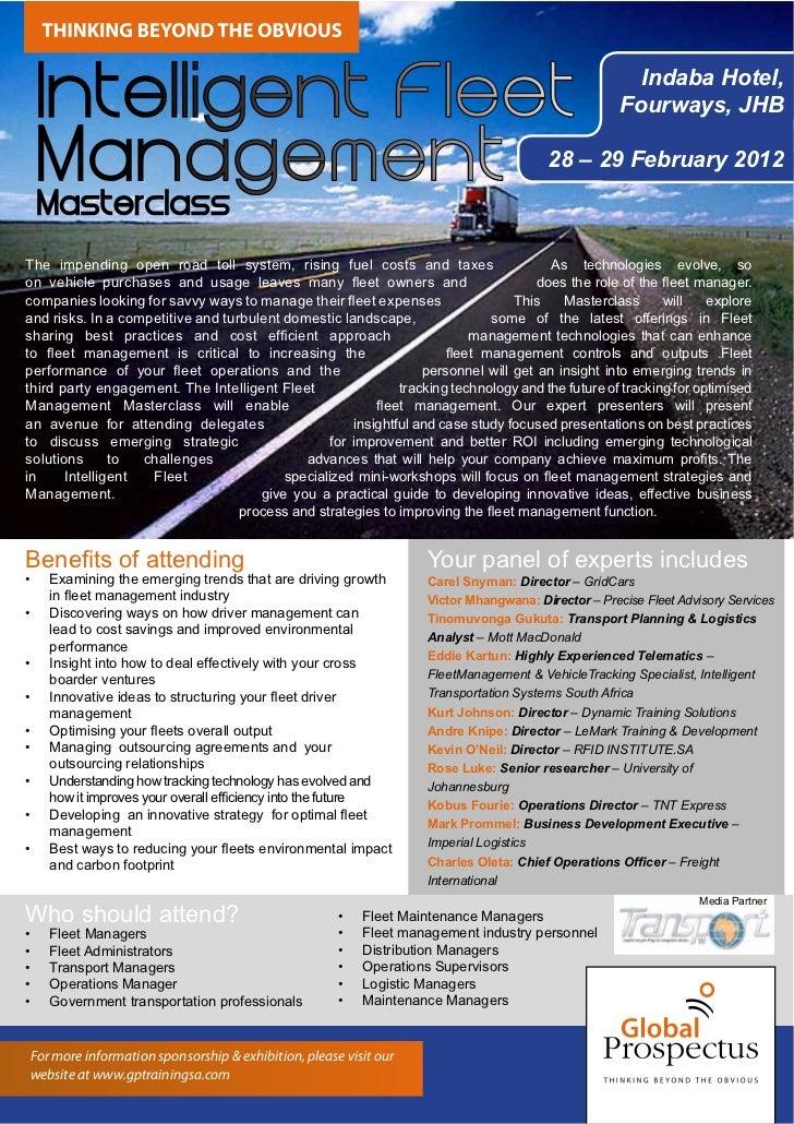 Intelligent Fleet Management 2012