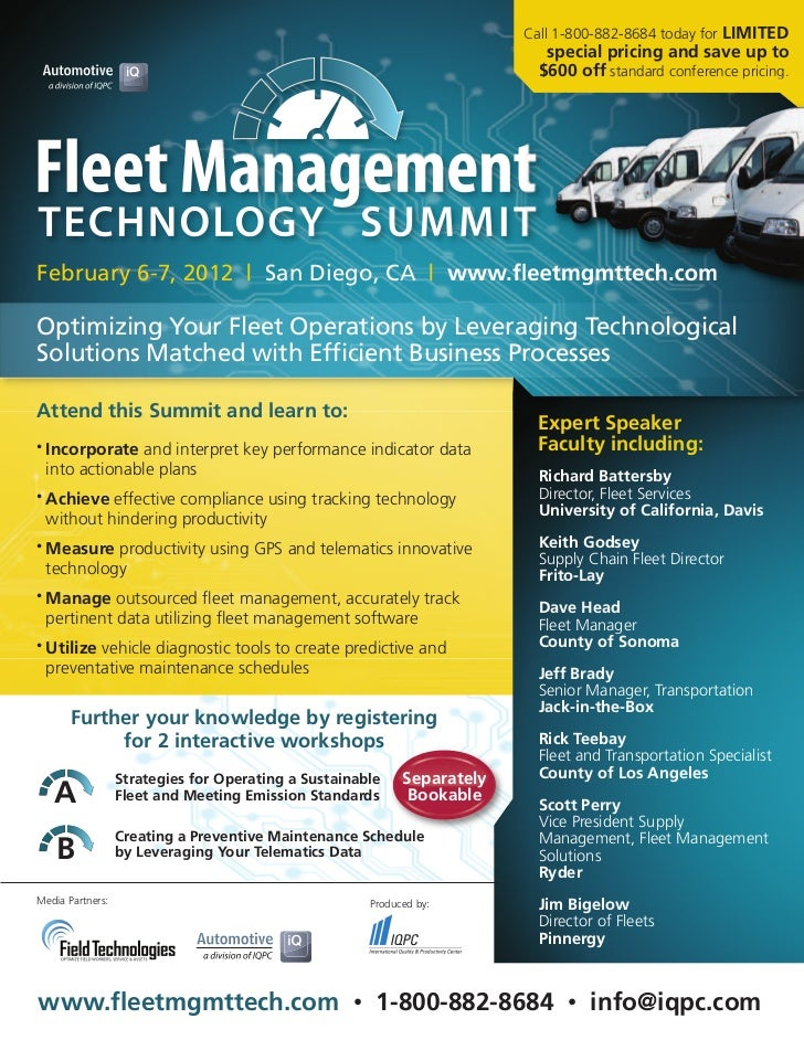 Fleet Management Technology Summit